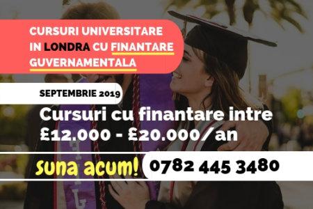 Cursuri Universitare in Londra cu Finantare Guvernamentala